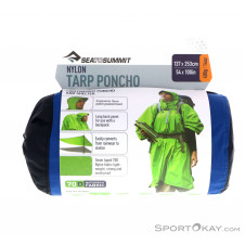 Sea to Summit Nylon Tarp Poncho Regenjacke-Blau-One Size