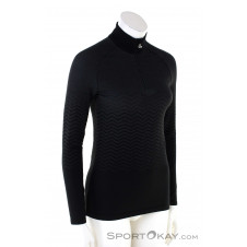 Löffler Zip-Sweater Transtex Hybrid Damen Sweater-Schwarz-44-46