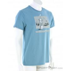 E9 Caffé Herren T-Shirt-Blau-S