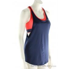 Under Armour 2-in 1 Tank Damen Fitnessshirt-Blau-M