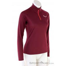 Salewa Sennes Dry LS Damen Sweater-Rot-38
