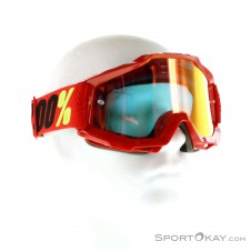 100% Accuri Anti Fog Goggle Mirror Lens Downhillbrille-Rot-One Size