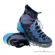 Salewa Wildfire Edge Mid GTX Damen Trekkingschuhe Gore-Tex-Blau-7,5