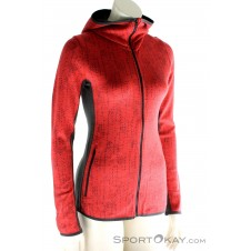 Icebreaker Away LS Zip Hood Damen Outdoorsweater-Rot-XS