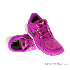 Nike Free 5.0 Damen Laufschuhe-Pink-Rosa-6