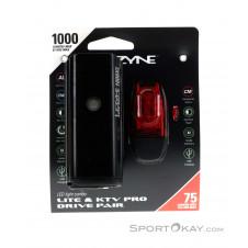 Lezyne Lite Drive 1000XL/KTV Pro Set Fahrradbeleuchtung-Schwarz-One Size