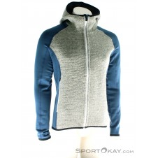 Ortovox Fleece Plus Classic Knit Hoody Herren Tourensweater-Blau-S