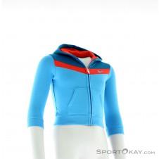 Nike YA76 Brushed Fleece Mädchen Trainingsanzug-Blau-12-18