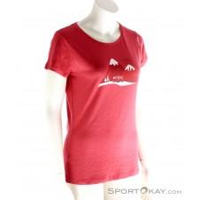 Chillaz Gandia Travel Damen T-Shirt-Rot-36