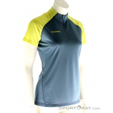 Mammut Illiniza Light Zip T-Shirt Damen Funktionsshirt-Blau-S