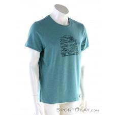 Chillaz Lettering Bus Herren T-Shirt-Blau-S