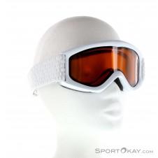 Alpina Carat DH Kinder Skibrille-Weiss-One Size