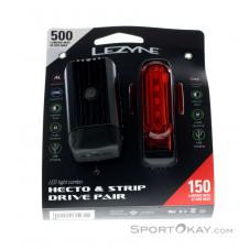 Lezyne Hecto Drive 500 XL/Strip Pair Fahrradbeleuchtung-Schwarz-One Size