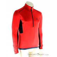 Salomon HZ Discovery Flowtech Herren Outdoorsweater-Rot-XXL