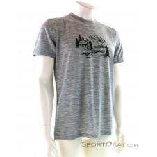 Super Natural Graphic Tee Idyll Herren T-Shirt-Grau-M
