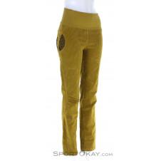 Crazy Idea After Damen Outdoorhose-Gelb-S