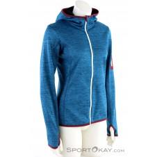 Ortovox Fleece Melange Hoody Damen Tourensweater-Blau-S