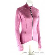 Löffler Langarmtrikot Merino FZ Damen Outdoorsweater-Pink-Rosa-36