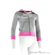 Nike YA76 Graphic FZ Mädchen Freizeitsweater-Grau-M