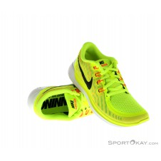 Nike Free 5.0 Damen Laufschuhe-Gelb-6,5