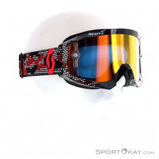 Scott Hustle MX LS Chrome Downhillbrille-Schwarz-One Size