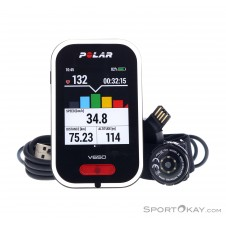 Polar V650 GPS-Bikecomputer + OH1 Pulsmesser-Schwarz-One Size