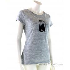 Super Natural Print Tee Damen T-Shirt-Grau-S
