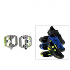 Magnet-Pedale magped & SPD / Click Bike Schuhe SET