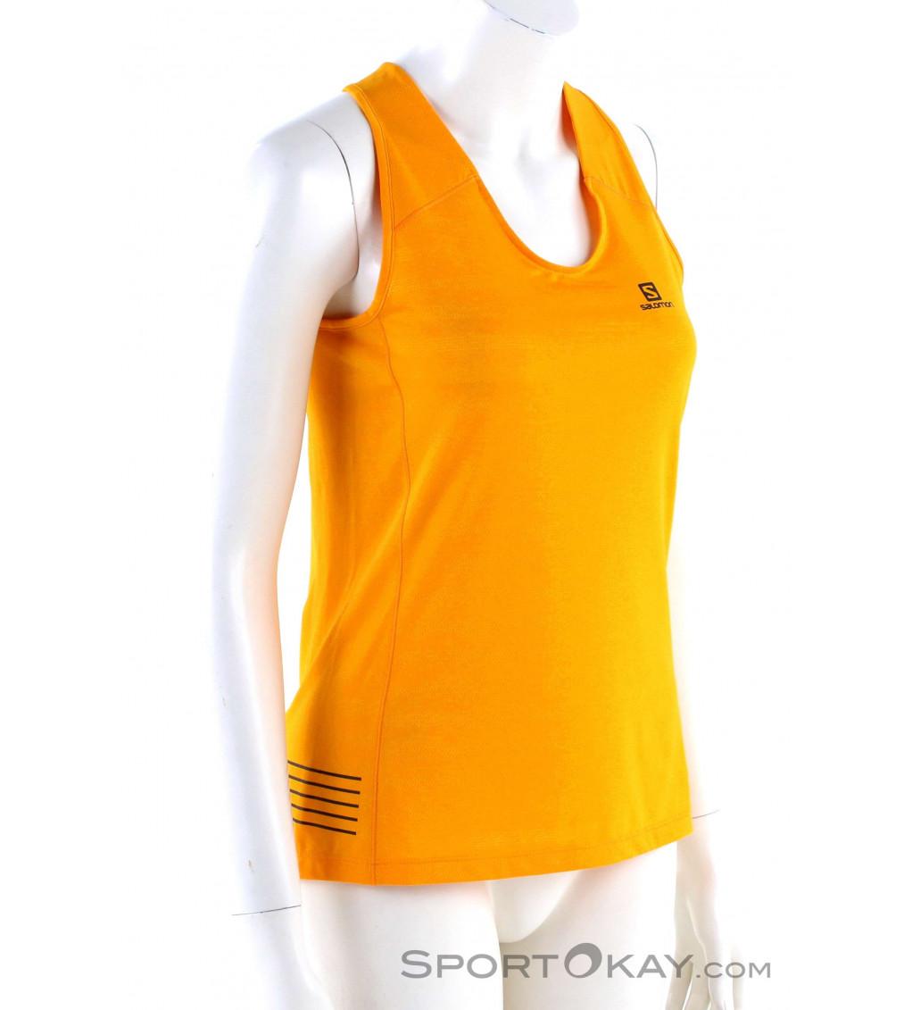 TCA Ultralite Womens Running Vest Tank Top-Yellow