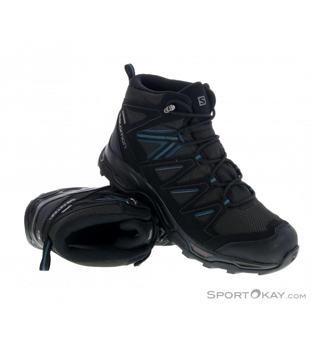 Salomon Hillrock Mid GTX Mens Trekking Shoes Gore Tex sEyOS