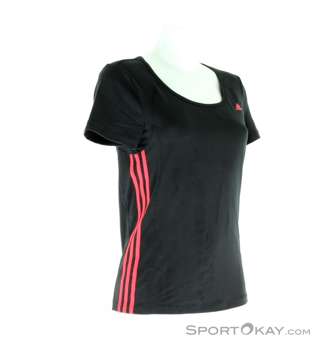 adidas clima ess 3s tee damen trainingsshirt kurz shirts. Black Bedroom Furniture Sets. Home Design Ideas