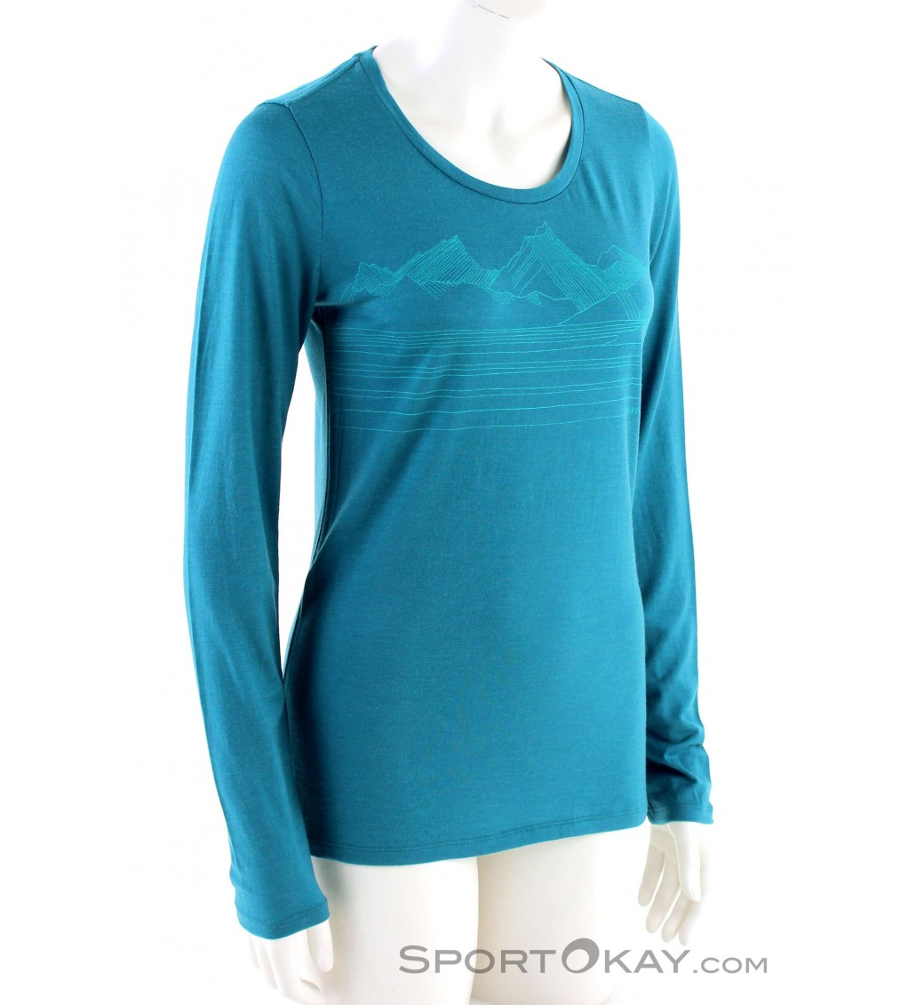 Icebreaker Tech Lite L S Womens Functional Shirt Shirts T Shirts Outdoor Clothing Outdoor All