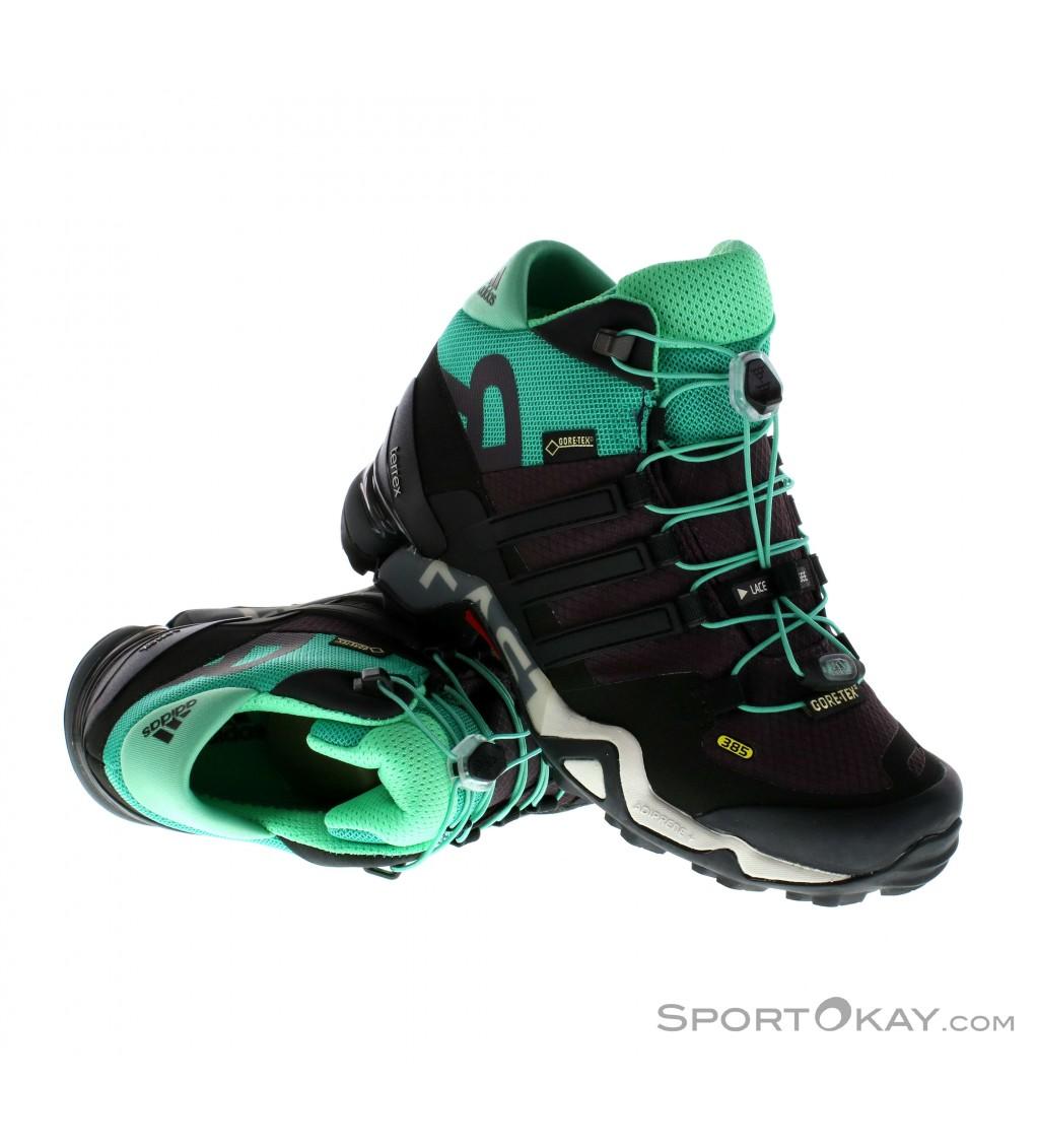 adidas Adidas Terrex Fast R Mid GTX Womens Trekking Shoes Gore Tex