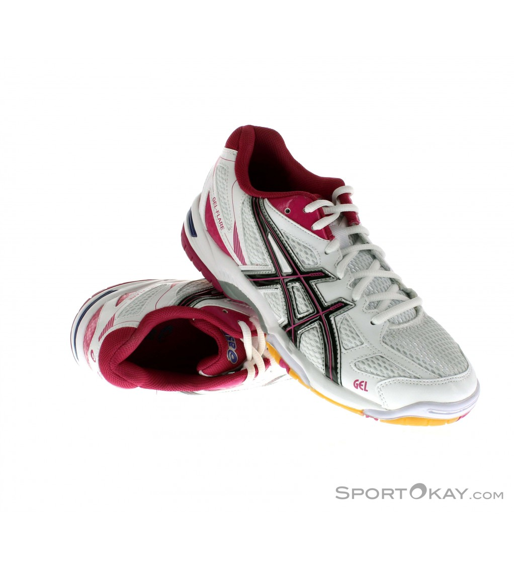 Asics Gel Flare 5 Womens Indoor Court Shoes - Fitness Shoes ...