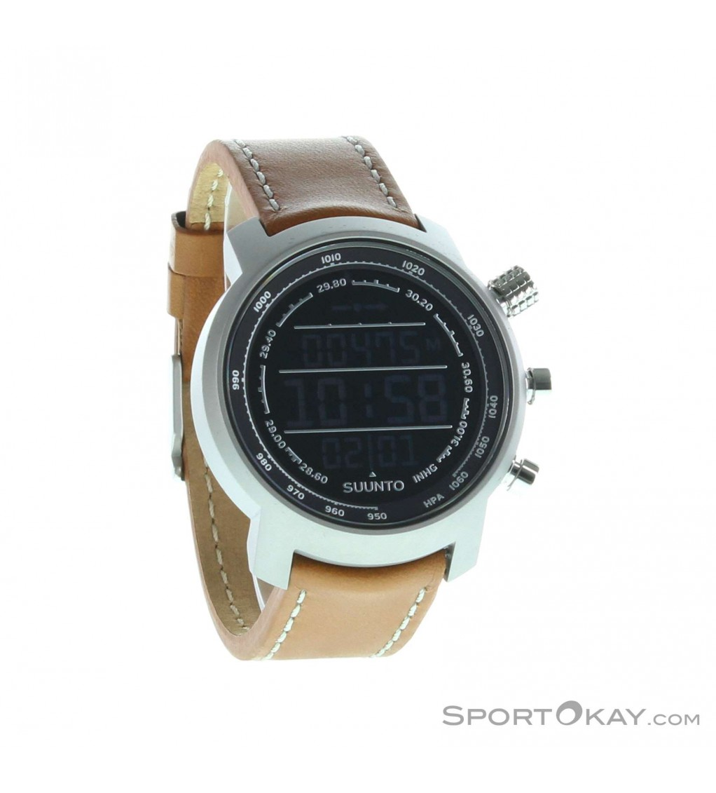 suunto elementum terra brown leather bergsportuhr outdoor watches sports watches digital all sport okay