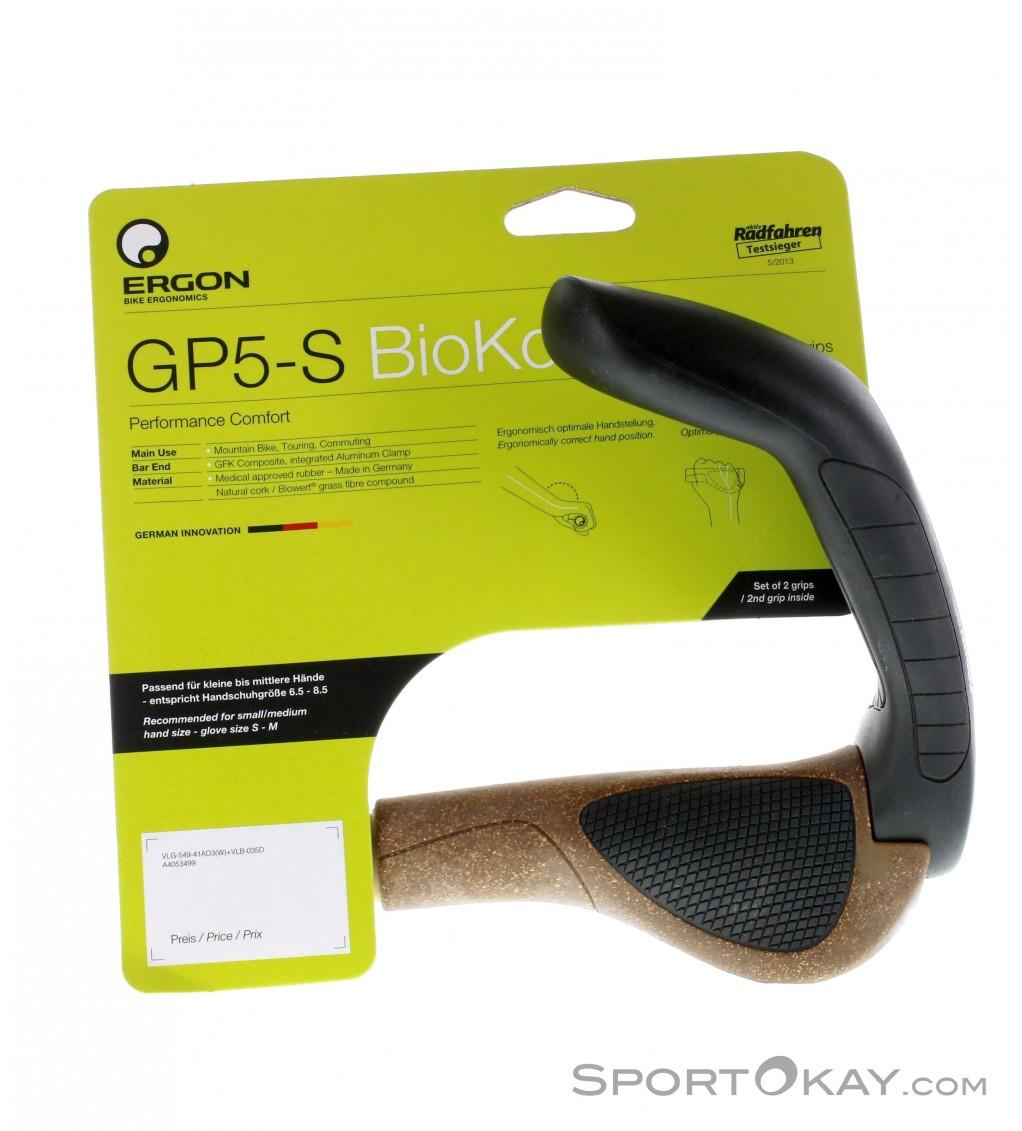Ergon GP4-L Large Ergo Handlebar Bike Grips 4-Finger MTB//Commuter Black//Gray