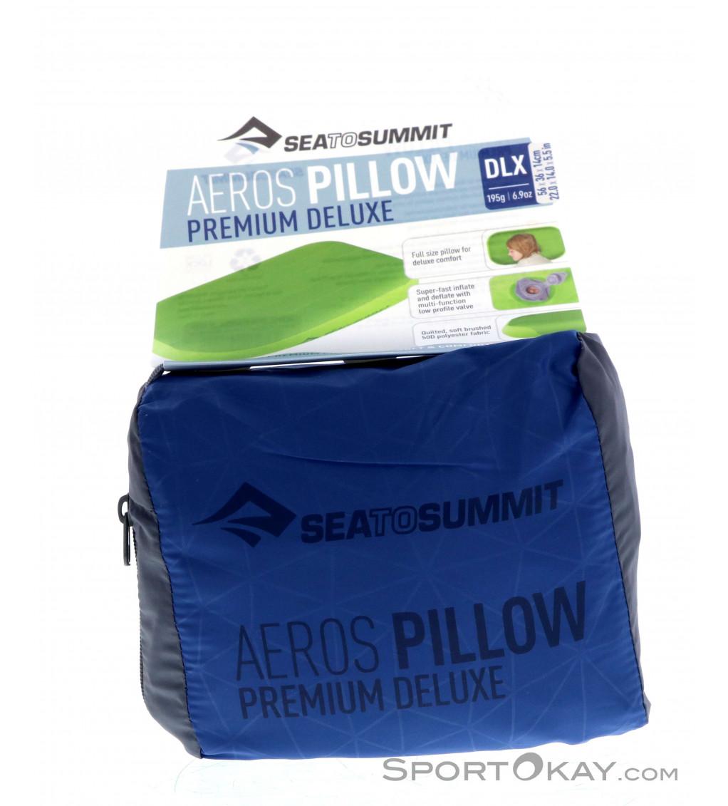 Sea To Summit Aero Premium Pillow Large Size Green Blue Travel